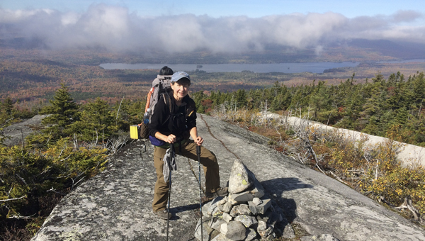 Chelsea resident Cathey Leach hiked the Appalachian Trail in six months last year. (Contributed)