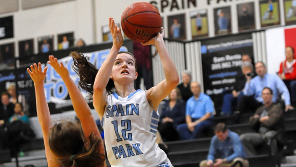 The Spain Park Lady Jaguars won their third consecutive area championship on Feb. 6. (Contributed / Ted Melton at actionsportspix.smugmug.com)