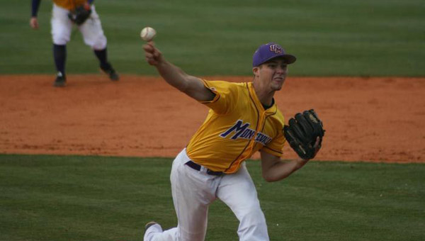 The Montevallo baseball team defeated the University of West Georiga on Feb. 7 during the season-opening three-game series with the Wolves. (Contributed)