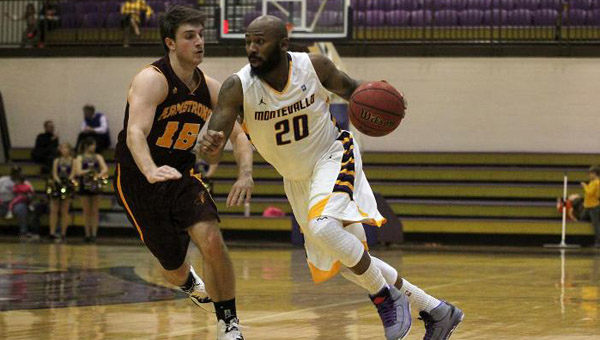 Junior Bryant Orange helped lead the Montevallo Falcons past Columbus State on Feb. 11 to claim sole possession of first-place in the Peach Belt Conference. (Contributed)