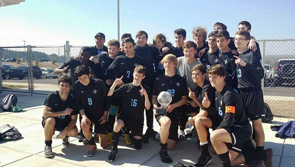 The Helena boys' soccer team won the Lakeshore Shootout Tournament on Saturday, Feb. 14. (Contributed)