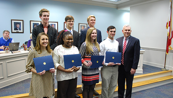 Students from various high schools in Shelby County were recognized for the ACT Student Readiness Award on Thursday, Feb. 19. (Reporter Photo/Graham Brooks)
