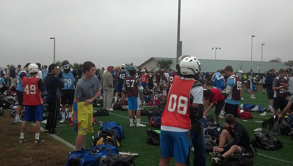 The scene at a Lacrosse Academy of Birmingham summer session. (Contributed)