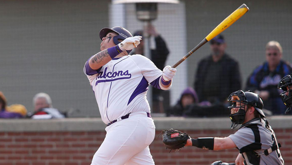 Steven Knudson of the University of Montevallo was named the Peach Belt Conference Player of the Week after hitting four home runs in a series with nationally ranked UNC-Pembroke. (Contributed)