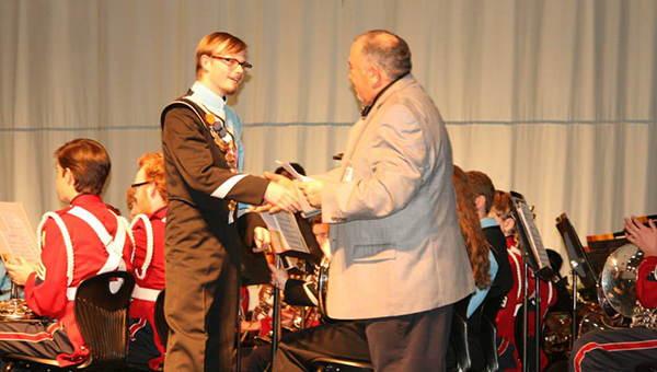 HHS senior Alex King was awarded the $1,000 Shelby County Outstanding Senior Music Scholarship. King plans to attend Auburn University in the fall. (Contributed)