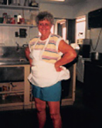 Beverly McKenna, long time owner of Beverly's Barbecue died at the age of 81. This is McKenna standing in the original restaurant. (Contributed)