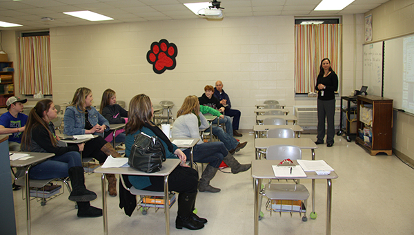 CMS parents and students attended the inaugural math and reading night on Thursday, Feb. 19. (Contributed)
