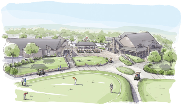 This rendering depicts the Greystone Golf and Country Club's Golf Operations building and plaza set to be complete in March. (Contributed)