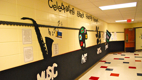 Inverness Elementary School celebrated Black History Month with a combination of informational hallway decorations, lessons and activities. (Reporter Photo / Molly Davidson)