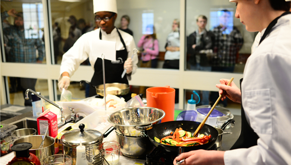 Student chefs from Holtville High School compete in the 2015 ProStart Student Invitational competition at the Jefferson State Community College Shelby-Hoover campus on Feb. 7. (Special to the Reporter / Jon Goering)