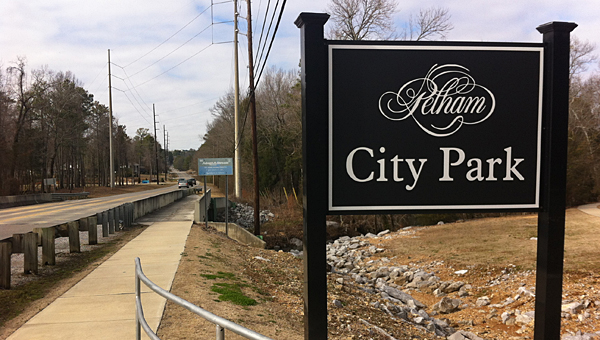 A project to add sidewalks along Bearden Road from Pelham City Park to Pelham High School is on schedule to be completed in the fall, according to city leaders. (Special to the Reporter/Grace Thornton)