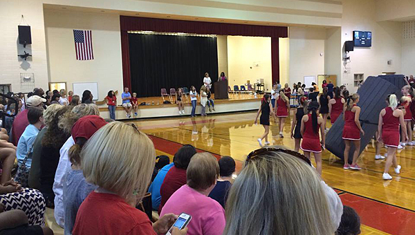 Thompson Middle School soon will get a new retractable curtain in its gym. (Contributed)