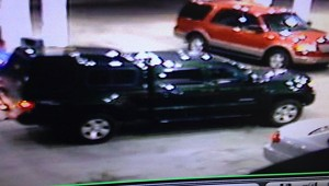 The suspect was a passenger in this green truck. (Contributed)