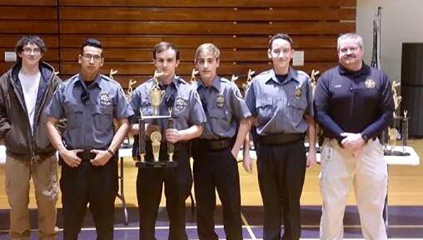 The Helena Police Explorers received first place in two events and third place in another at the State of Alabama Law Enforcement Explorer Competition on Feb. 21. (Contributed)