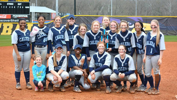 The Calera Lady Eagles won the Montevallo Invitational Tournament over the weekend of March 13-15. (Contributed)