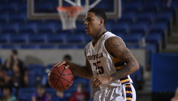 Troran Brown and the Montevallo Falcons saw their season come to an end on March 17 in the NCAA DIv. II Sweet Sixteen at the hands ofThe University of Mount Olive. (Contributed)