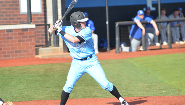 Mason Duke and the class 7A seventh-ranked Spain Park baseball Jaguars defeated class 7A no. 2 Thompson twice on March 19. (Reporter Photo / Baker Ellis)