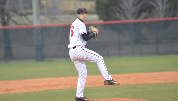 Stephen Poplin led Thompson to a win in the first game of a doubleheader with Auburn on March 17. The Warriors won both games by a combined 18 runs. (File)