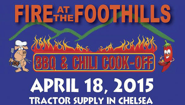 Chelsea's annual Fire at the Foothills BBQ & Chili Cook-Off will be held on April 18 from noon to 4 p.m. at Tractor Supply in Chelsea. (Contributed)