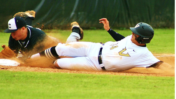 Robbie Albright of Vincent slides into second base during a March 26 matchup with BB Comer. The Yellow Jackets won the game by a final score of 8-5. (Contributed / Briana DiGiorgio)
