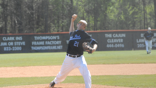Mason Duke led the Spain Park baseball Jaguars to a 4-1 win over Oak Mountain on March 30 in the second game of the first day for the Jaguars in the Beef O'Brady's Classic. (Reporter Photo / Baker Ellis)