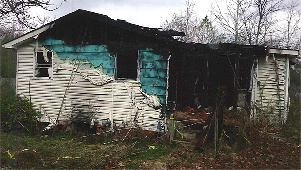 The Alabaster City Council is considering demolishing a burned-out house at 151 Daisy Lane. (Contributed)