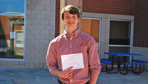 CHHS senior Christopher Robinson was named a National Merit Scholarship finalist. He plans to attend the University of Alabama and major in electrical engineering and computer science and minor in Spanish. (Reporter Photo / Molly Davidson)