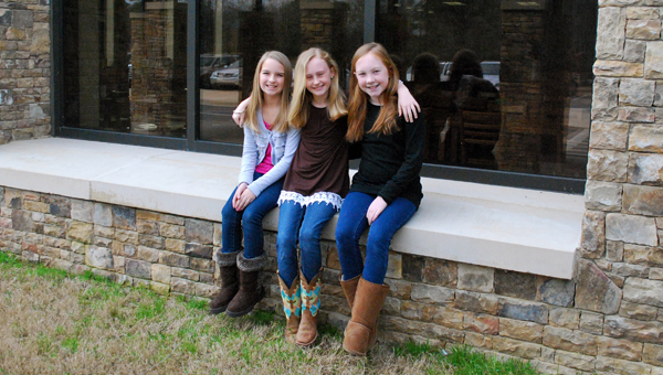 Forest Oaks Elementary School Students, Katelyn Shirley, Ella Hillman and Norah Breedlove worked together to hold a school-wide fundraiser for St. Jude Children's Research Hospital from Feb. 23-27. (Reporter Photo / Molly Davidson)