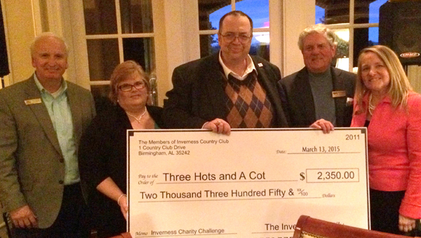 Inverness Country Club members raised nearly $6,000 for local charities during a three-month-long fundraiser. (Contributed)