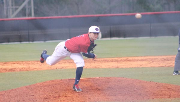 Logan Gibbs helped lead Oak Mountain to a win over Enterprise on March 14. (Contributed)