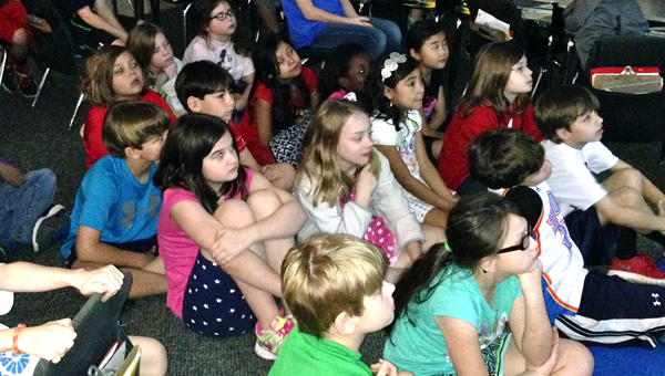 Oak Mountain Elementary School students tune into a webinar on March 26 as part of Shelby County Schools' Digital Day of Learning. (Contributed)