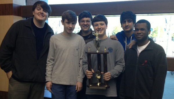 The Spain Park High School JV Scholars Bowl team took home the state title on Feb. 28. (Contributed)