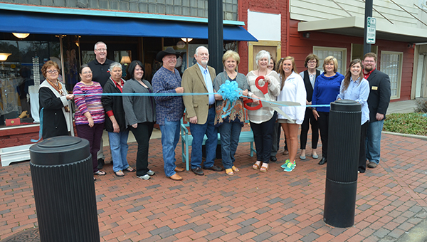 The Sassy Sisters Boutique had a ribbon cutting ceremony to celebrate the opening of their second store in Columbiana on Friday, March 13. (Reporter Photo/Graham Brooks)