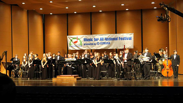 The Thompson High School wind ensemble earned stellar reviews at a national concert band festival in Indianapolis in mid-March. (Contributed/Eric Starling)