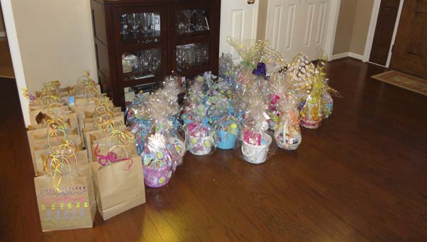 The Ladies of North Lake donated 58 Easter Baskets of Love to Alabama Childhood Food Solutions in Sylacauga this month. (Reporter Photo/Emily Sparacino)