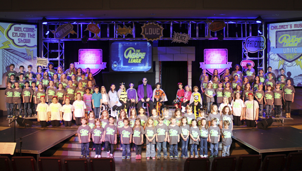 "Double Oak Community Church's Children's Musical has a different name each year. The name of the 2014 musical was ""The Agape League."" (Contributed)"