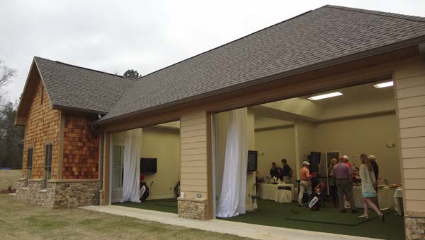 Greystone Golf and Country Club's new Golf Performance Center on the Legacy driving range opened with a ribbon cutting March 21. (Reporter Photo/Emily Sparacino)
