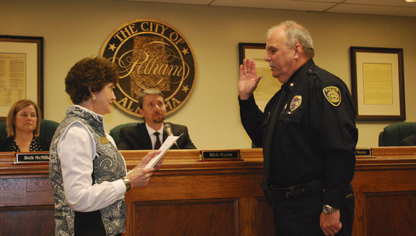 Pelham Deputy Police Chief Larry Palmer, right, has been leading the department for about three weeks. (File)