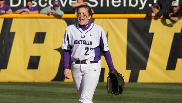 Hannah McCrelless has helped lead the Montevallo Lady Falcons' inaugural softball team to a successful first season. (Contributed)