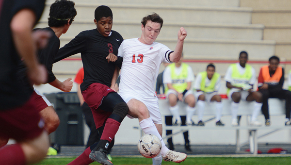 Thompson's Brady Johnson has helped lead the Thompson Warriors on the soccer pitch this season. (File)