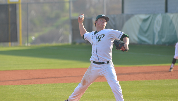 Sam Finnerty pitched a complete game for Pelham in the first game of the 6A second round state tournament series with Northridge. The Panthers won the first two games 6-0, 6-5 to advance. (File)