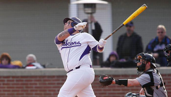University of Montevallo's Steven Knudson homered for the 17th time on March 31 against Trevecca Nazarene University. (Contributed)