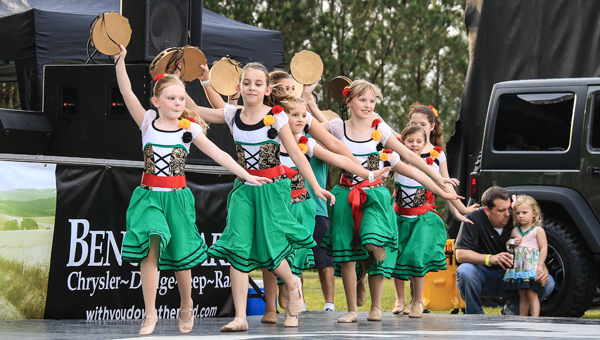 Dance South Dancers perform at the 2015 Feast of Saint Mark Italian Food Festival on April 25 at St. Mark the Evangelist Catholic Church in Birmingham (Photo by Dawn Harrison.)