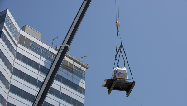 A new 13,600-pound MRI machine was installed at Grandview Medical Center. (Contributed /Bob Farley)
