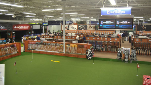 The PGA Tour Superstore chain will expand into Alabama, opening a location in Inverness Plaza on June 6. (Contributed)