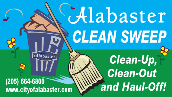 Alabaster will offer residents chances to keep the city beautiful during the Clean Sweep program throughout April. (Contributed)