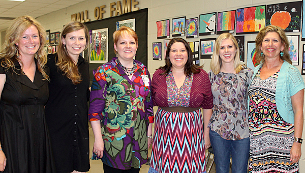 Jenni Argp, Kim Hinds, Sherri Campbell, Amanda Knight, Katherine Phillips and Kim Harrison are a few of the Pelham City Schools Fine Arts teachers. (Contributed)