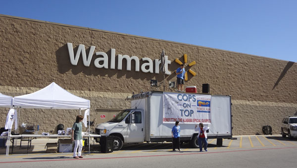 The Cops on Top fundraiser for Special Olympics continues Saturday, April 25 at Walmart off U.S. 31 in Pelham. (Reporter Photo/Emily Sparacino)