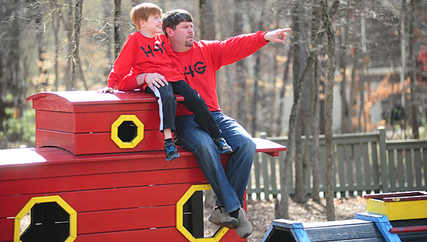 State Sen. Cam Ward, R-Alabaster, is planning to sponsor legislation to legalize some experimental medications. The legislation would benefit children such as Gabe Griffin, pictured with his father, Scott. (File)