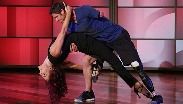 Alabaster resident Noah Galloway and his dancing partner, Sharna Burgess, are safe on the Dancing with the Stars competition for at least another week. (Contributed)